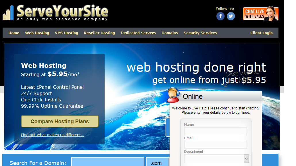 For Clients In Need of VPS, Check Out Our Sister-Brand ServeYourSite